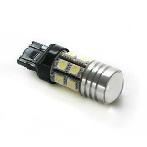 Interlook LED auto žárovka dvouvláknová s čočkou T20 12 SMD 5050 + 1 CREE W21W/5W studená bílá
